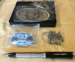 Lot Of New John Deere Pen, Keychain, Medallion, Pin Tractor Collectables