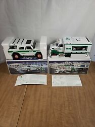 Hess 2004 2008 Toy Truck And Front Loader Sport Utility Vehicle And Motorcycles