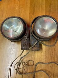 Pair Parts Lamp Stewart N-ray 139a Multi Position Early Auto Truck Spotlight