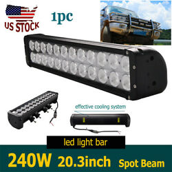 240w 20inch Dual Row Led Work Driving Light Bar Combo Lamp Fog Offroad Suv Truck