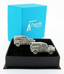 Land Rover 4x4 Silver Pewter Cuff Links In A Presentation Gift Box