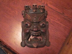 1 Antique Chinese/tibetan Painted Wooden Death Mask