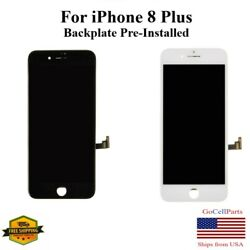Lcd Screen Touch Display Replacement With Metal Back Plate For Iphone 8 Plus