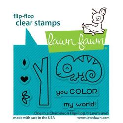 Lawn Fawn Stamps One in a Chameleon Flip Flop LF2512