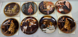 Lot Of 8 - 8.5 Knowles Norman Rockwell Collector Plates W Coa's 1983,1984
