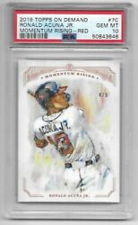 2019 Topps On Demand /5 Ronald Acuna Jr. Momentum Rising Red Parallel - Psa 10