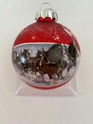 Kurt Adler Budweiser Holiday Ornament Hand Crafted - Lot Of 2 - Nwt