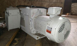 1 Used Leybold Trivac D65b Vacuum Pump W/ 3.0 Hp Motor And Exhaust Filter