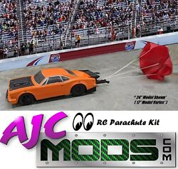 Functional Scale Rc Car Parachute Kit For Dr10 Drag Car/slash 2wd, 4wd Speed Run