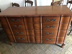 Two Vintage Dressers By Permacraft Including Marching Mirror