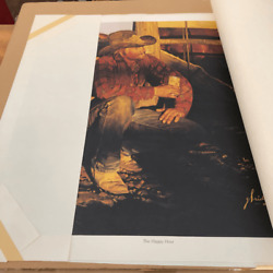 Vintage Coors Beer Art | Gordon Snidow Pencil Signed Ltd. Edn. The Happy Hour
