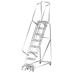 Ballymore Rolling Ladder Capacity 450 Lb. Height 113 In. Stainless Steel