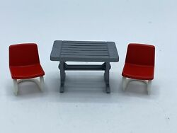 Playmobil Table 2 Chairs Campground Zoo Park House Safari
