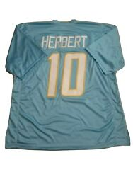 New Justin Herbert Large Los Angeles Chargers Pro Custom Stitch Football Jersey