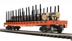 ✅mth Premier Great Northern Flat Car W/ Logs And Stakes 20-98715 O Scale Train