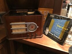 1946 Silvertone Console Antique Table Radio 78 Rpm Record Player Plays Well