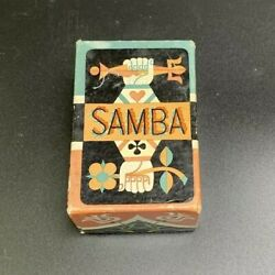 Vintage Art Deco Samba Arrco Playing Card Company Chicago Il Mcm Cards With Box