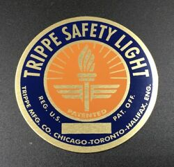Standard Orange And Blue Trippe Light Badge - Pair Of Two