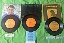 Charley Pride 3 Compact Jukebox Ep 33 Rpm. Mini Lp's, Used With Title Strips