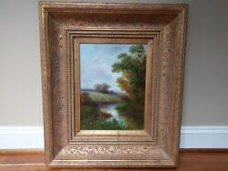 Humphrey Signed Landscape River Tree Wall Art Oil Painting South Korean S H Song