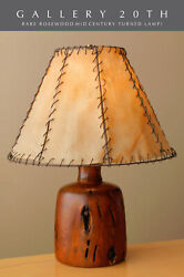 Rare And Epic Alexandre Noll Arts And Crafts Rosewood Worm Lamp Vtg One Off