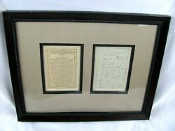Framed Civil War Letter Dated May 18th 1865 W/ Printed Description-ohio Battery
