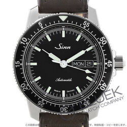 Authentic Sinn 104 Pilot Watch Menand039s 104.st.sa Stainless Dial Black Case Silver