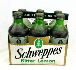 Rare Vintage Schweppe's Bottles 6 Pack Nos Acl Label Soda Advertising Crate Sign