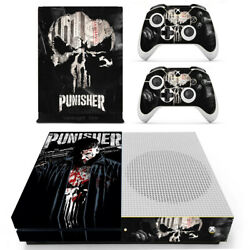 The Punisher Skull Skin Stickers For Xbox One X Console Controller Vinyl Decal