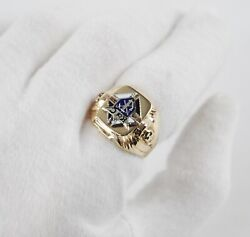 Vintage 10k Yellow Gold Knights Of Columbus Ring - Size 9.75