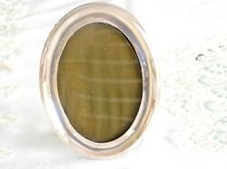 Charming Antique Sterling Silver Oval Picture Frame Birmingham England C 1870and039s