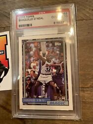 1992 Topps Shaquille Oand039neal Hof Rc 362 Magic Psa 10