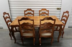 Ethan Allen Legacy Dining Table And 6 Chairs 13-6414 And 13-6400/6400a 213 Russet