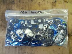 166 Count Monster Energy Aluminum Pop Can Tabs Bag Lot