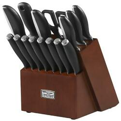 Chicago Cutlery Avondale 16-piece Block Set,curved Stainless And Polymer Handles