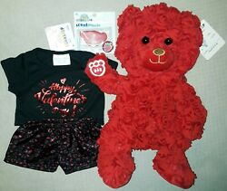 Build A Bear Red Roses Bear Exclusive Free Ty See Description