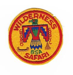Boy Scout Owasippe S.r. 1940and039s Camp Wilderness Felt Pp Chicago A.c. Il
