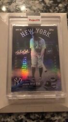 2021 Topps Project 70 Babe Ruth 3 By Dj Skee Rainbow 🌈 Foil 🔥🔥🔥 19/70