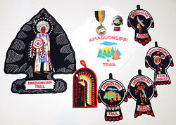 Boy Scout Amaquonsippi Trail Medal And Patch Collection   Ill