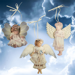 Bradford Edition Heavens Little Angels Christmas Ornaments Issue 1-3 Issue