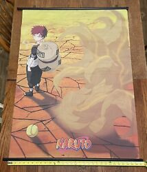 Vtg 2002 Naruto Gaare Wall Scroll Anime Poster Fabric Banner Flag 31andrdquox43andrdquo Ge9725