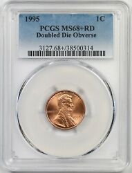 1995 Ddo Doubled Die Obverse 1c Pcgs Ms 68 + Rd Lincoln Penny