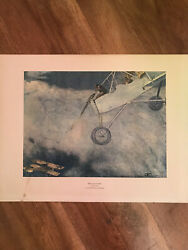 French Sky Fighter Henry Farre' 1915 Watercolor Print Usa Ww1 Red Baron