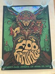 Foo Fighters Silver Foil Poster 4/22/2020 Athens Ga 40 Watt Signed 'ed X/48