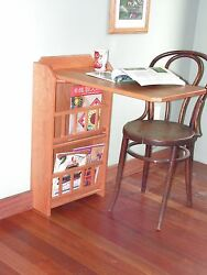 Fold Out End Tabledesk And Magazine Rackcherry For Rv Trailer Pull Up Leaf