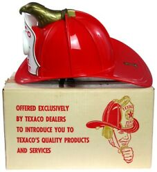 Vintage Texaco Gas Service Station Fire Chief Firemanand039s Helmet Hat W/box Works