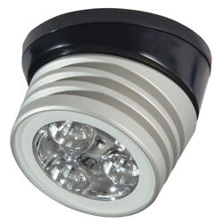 Lumitec 101326 Zephyr Deck Light White Led Black Base Brushed Finish 12/24v