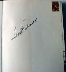 Ted Willliams Estate Owned Signed Auto Autographed Book + Zebra Bookends Psa/dna