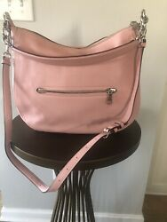 Pink Leather Coach Sutton Crossbody Hobo Bag $99.00