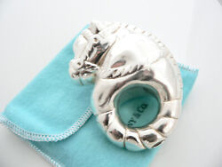 And Co Silver Nature Horse Baby Rattle Teether Rare Heirloom Gift Pouch